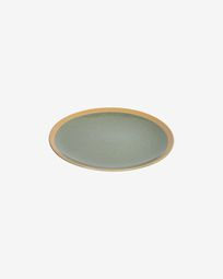 Tilla ceramic dessert plate in dark green