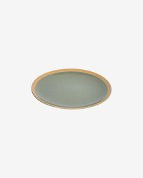 Donkergroen keramisch dessertbord Tilla