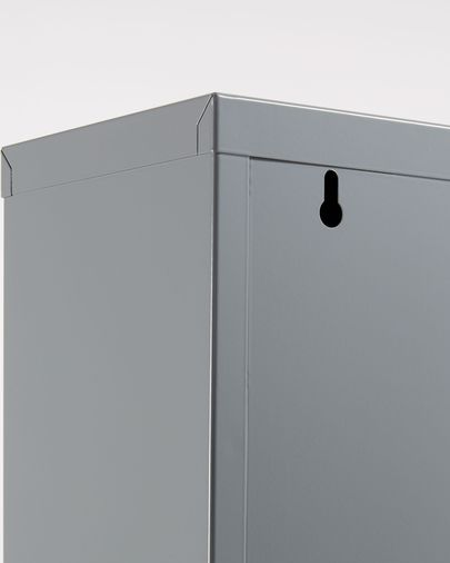 Ode Schuhregal 50 x 136 cm, 4-türig, graues Metall