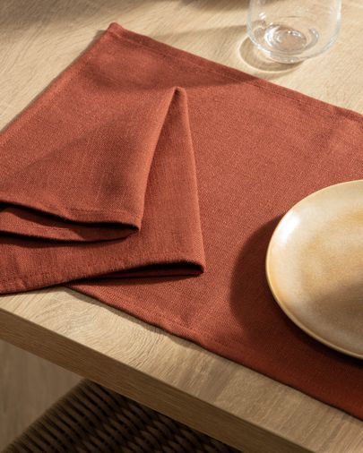Samay 4-teiliges Tischset Set, maroon