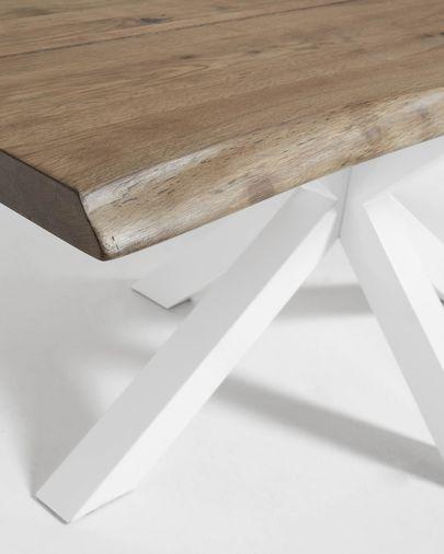 Tavolo Argo 180 cm rovere invecchiato gambe bianco