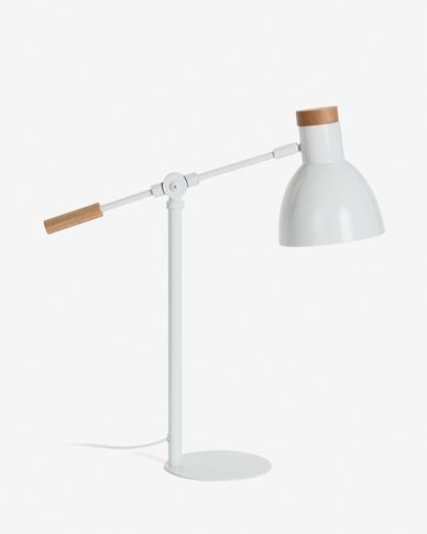 Lampe de table Tescarle blanc