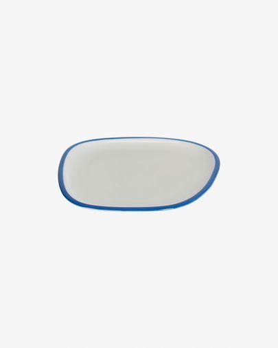 Porseleinen dessertbord Odalin in blauw en wit