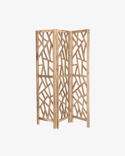 Biombo Avaline de madera maciza de teca 135 x 180 cm