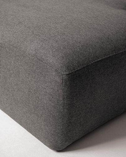 Canapé d'angle Blok 3 places fixe droite gris 330 cm