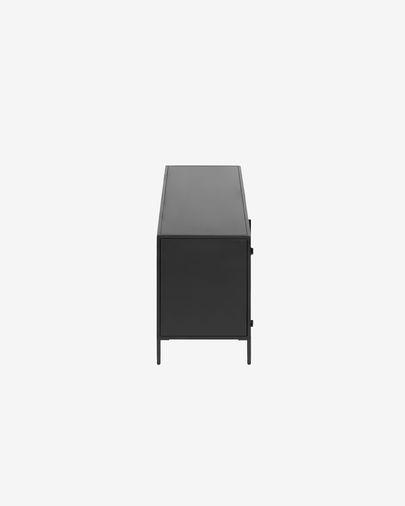 Mueble TV Shantay acero con acabado negro 150 x 50 cm