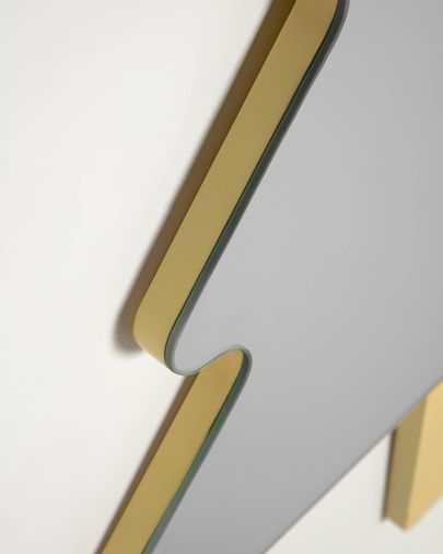 Espejo de pared Saori árbol amarillo 54 x 70 cm
