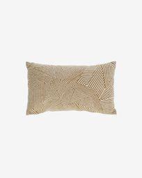 Devi 100% katoenen kussenhoes met beige en bruine strepen 30 x 50 cm