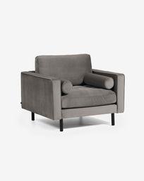 Debra fauteuil grijs fluweel