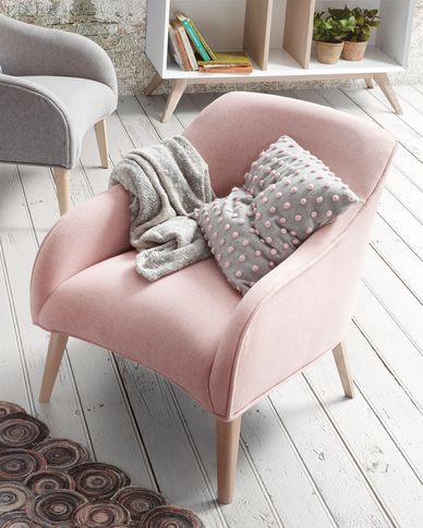 Pink Bobly armchair