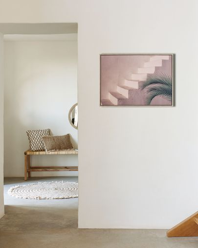 Lucie picture with brown cement staircase 50 x 70 cm