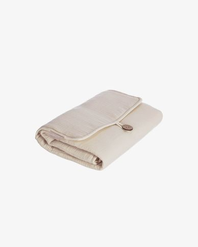 100% organic cotton (GOTS) Jeila travel changing mat in beige
