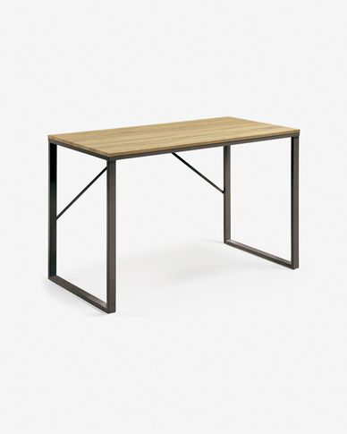 Rectangular black Talbot desk 120 x 60 cm