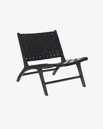 Black Calixta armchair