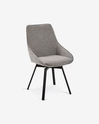 Jenna light grey swivel chair