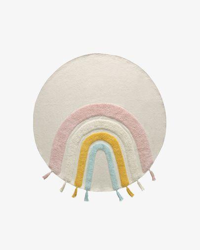 Thaide rond tapijt katoen meerkleurig Ø 100 cm