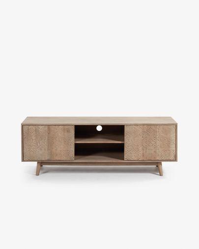 Mueble TV Seleb 160 x 56 cm de madera maciza de mango