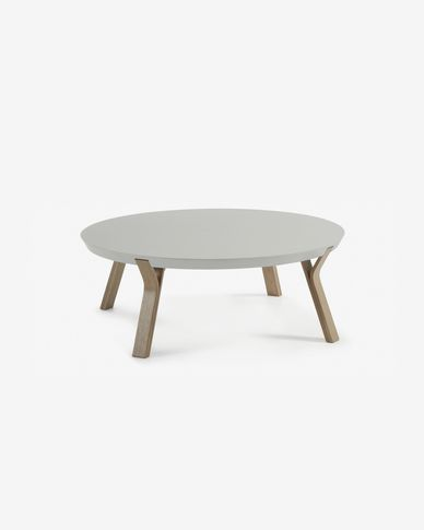 Grey and oak Dilos coffee table Ø 90 cm