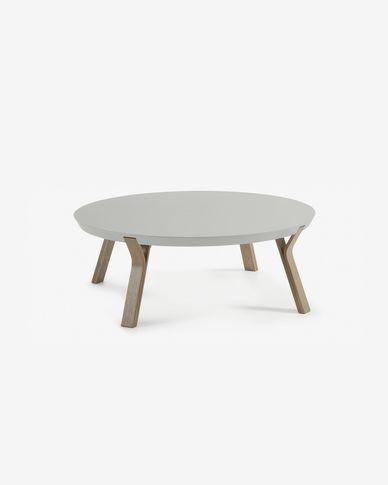 Table basse Dilos gris et chene Ø 90 cm