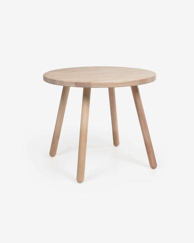 Runder Kindertisch Dilcia aus massivem Kautschukholz Ø 55 cm