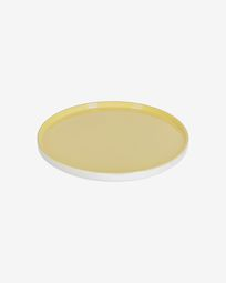 Midori ceramic dinner plate in yellow