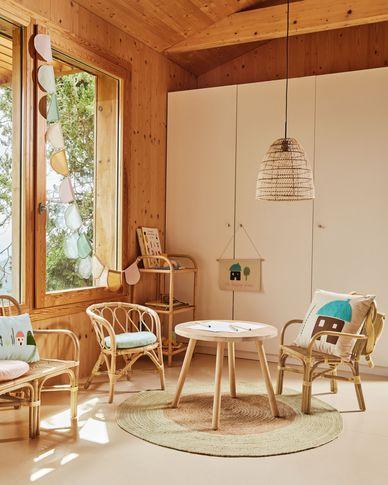 Housse de coussin Leshy 100% coton maison multicolore 45 x 45 cm