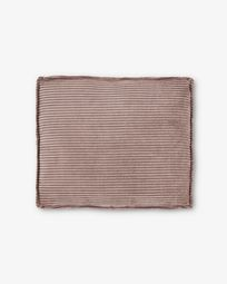 Pink corduroy Blok 50 x 60 cm cushion