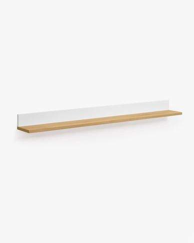 Mensola Abilen impiallacciato rovere e laccato bianco 120 x 9 cm