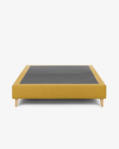 Base letto alta Nikos 180 x 200 cm senape