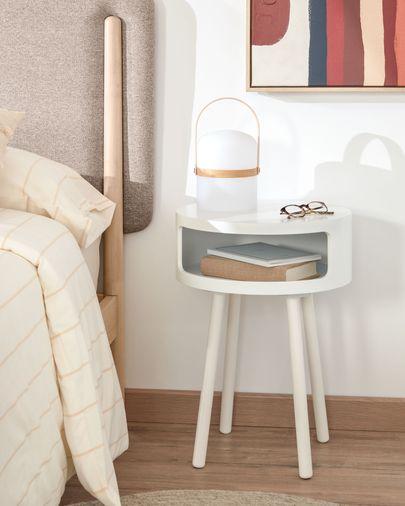 Tavolino Kurb B Ø 40 cm bianco