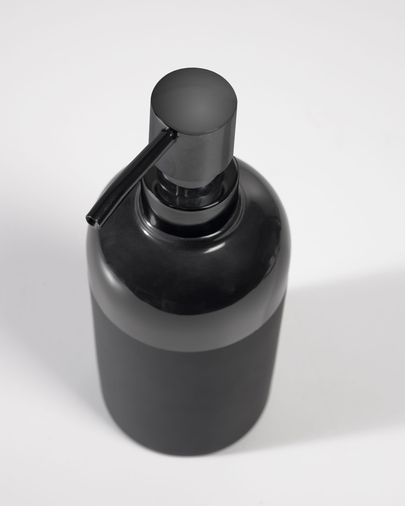 Riga black soap dispenser