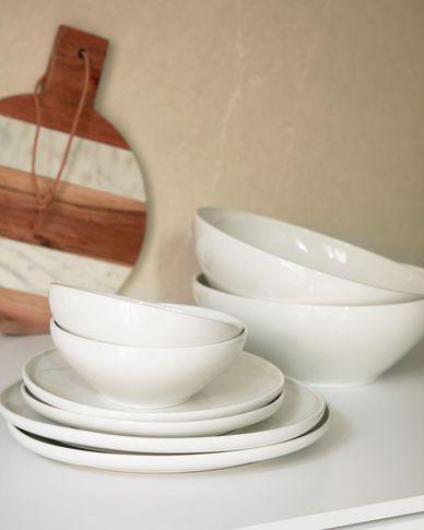 Miska Pahi duża okrągła biała porcelana