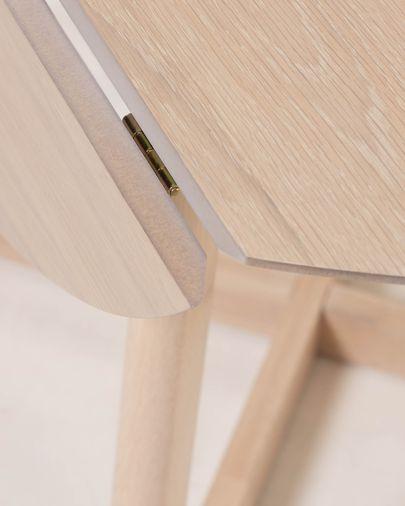 Tavolo allungabile Maryse 70 (120) x 75 cm finitura rovere