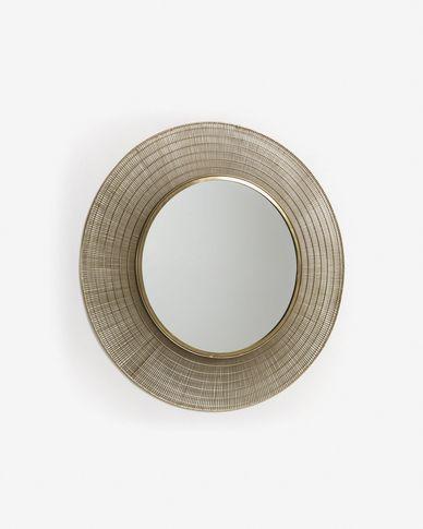 Espejo Place de acero Ø 80 cm