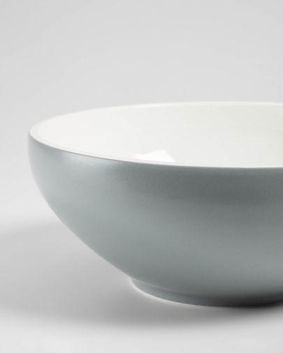 Sadashi kom groot grijs-wit porselein