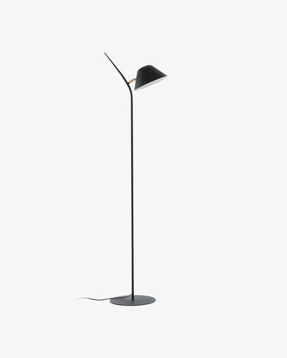 Lámpara de pie Aurelia de acero con acabado negro