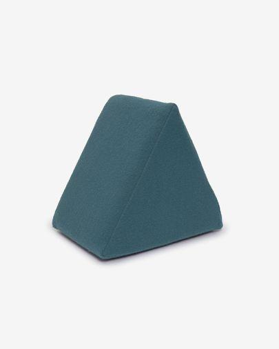 Puf triangular Jalila azul 25 x 25 cm