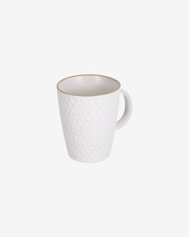 Manami ceramic mug in white
