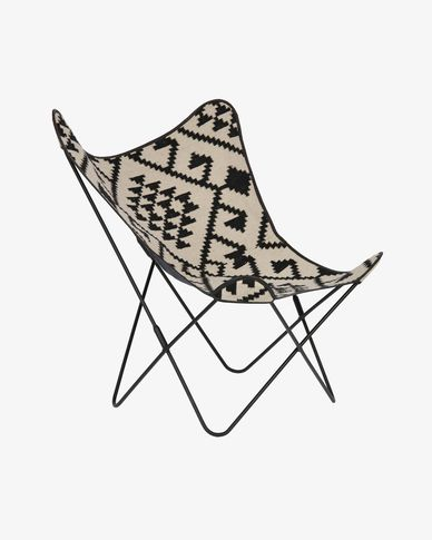 Black and white Fly chair