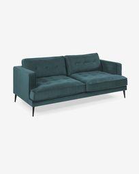 3-zitsbank Tanya fluweel turquoise 183 cm