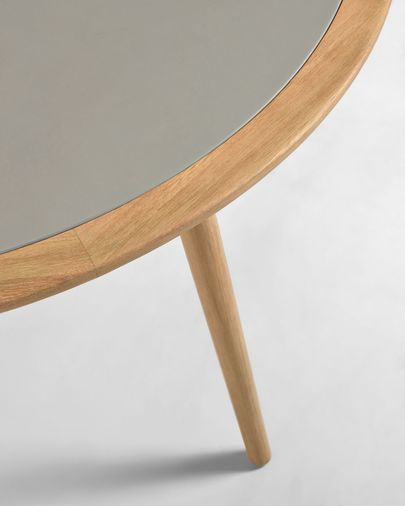 Stół Nina z polycemento i litego drewna eukaliptusa 200 x 90 cm 100% FSC