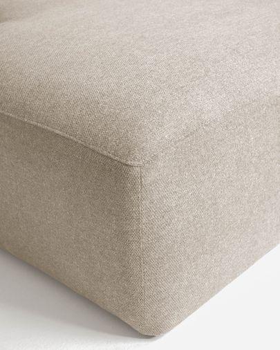 Canapé d'angle Blok 2 places fixe gauche beige 240 cm
