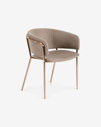 Taupe Runnie armchair