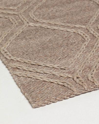 Alfombra Sybil 160 x 230 cm marrón