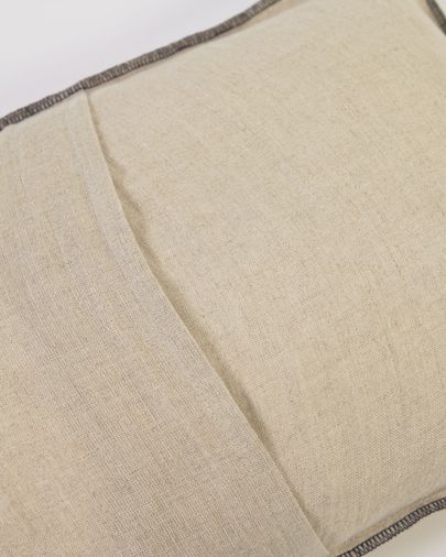 Funda cojín Elea 100% lino natural 30 x 50 cm