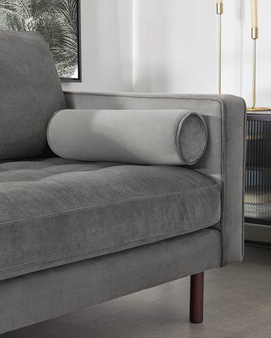 2-zitsbank Debra grijs velvet 182 cm