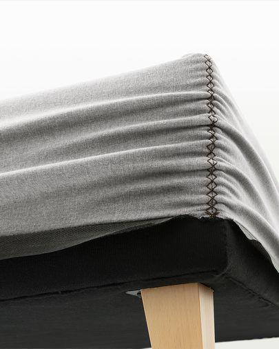 Nikos hohes Bettgestell 140 x 190 cm, grau