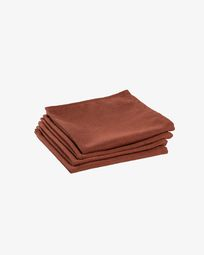 Lot de 4 serviettes de table Samay grenat