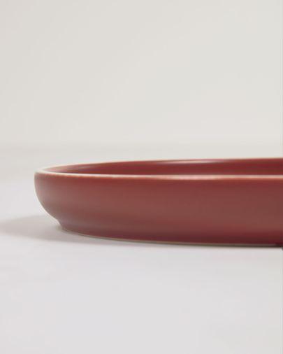 Plato de postre Roperta de porcelana terracota