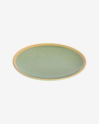 Tilla ceramic dinner plate in light green